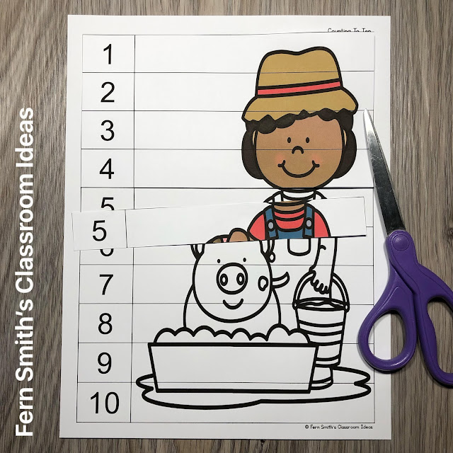 Click Here to Download These Farm Themed Counting Puzzles For Your Classroom Today!