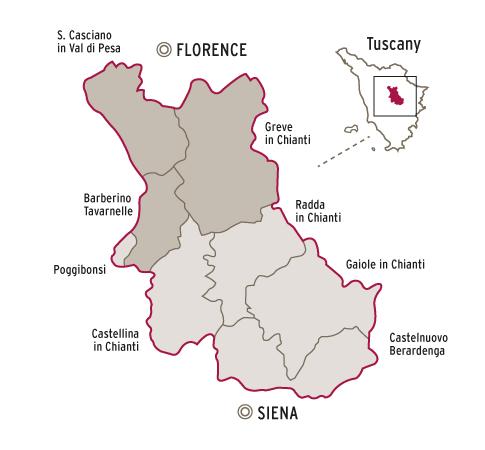 Chianti Classico wine region of Tuscany