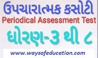 STD-3 TO 8 PERIODIC TEST (PAT/ EKAM KASOTI )SEM-2 TIME TABLE