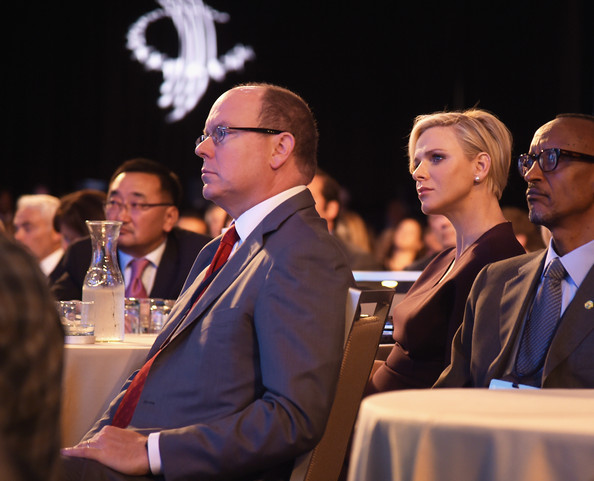Prince Albert and Princess Charlene in New York