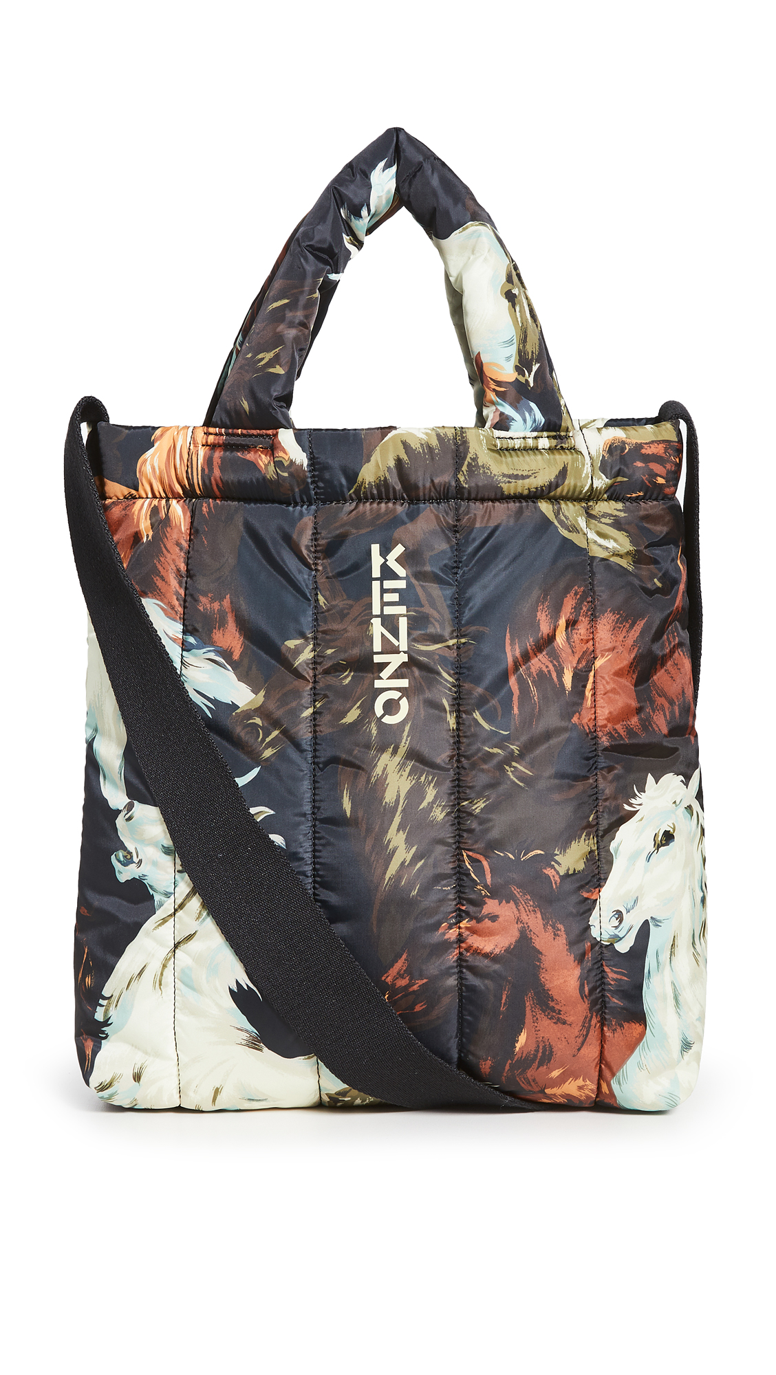 KENZO Quilted Horses Printed Tote Bag