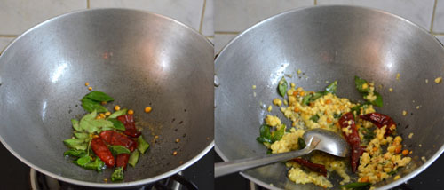 making millet arisi upma