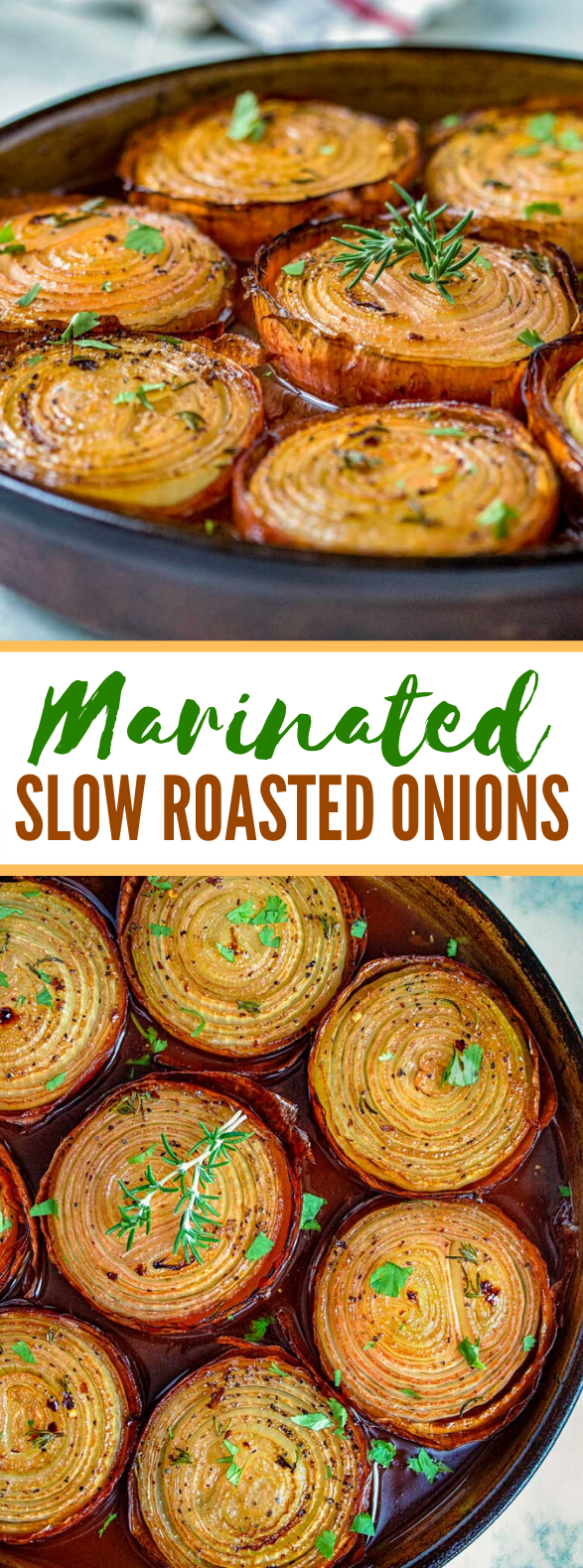 MARINATED SLOW ROASTED ONIONS #vegetarian #thanksgiving