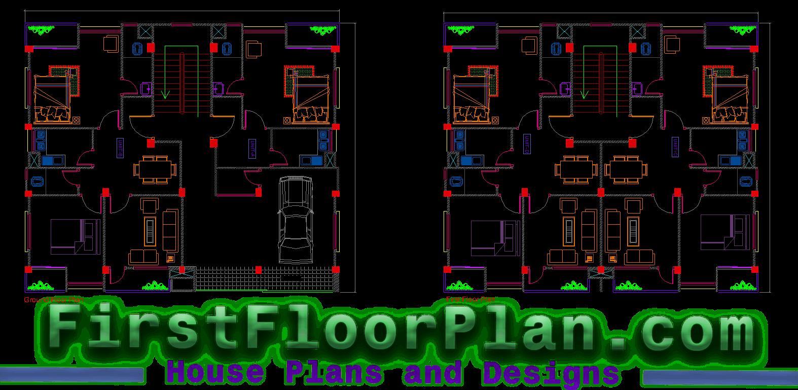 Three Storey Building Floor plan