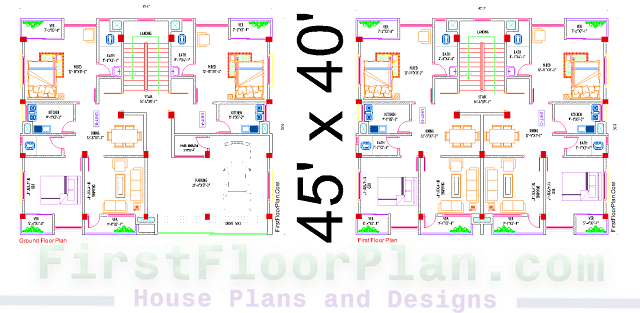 Three Storey Building Floor plan