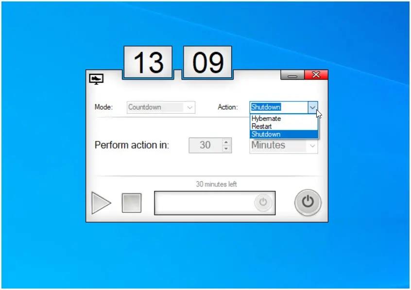 Sleep Timer : Προγραμματίστε το αυτόματο κλείσιμο του υπολογιστή σας