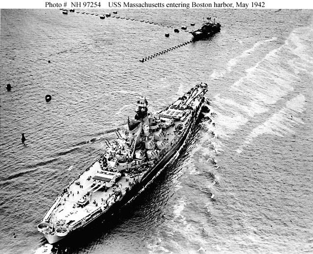 USS Massachusetts 12 May 1942 worldwartwo.filminspector.com