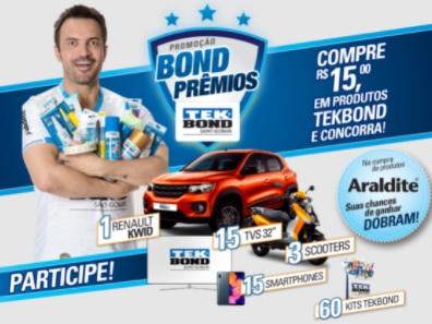 Cadastrar Promoção Bond Prêmios TEKBOND