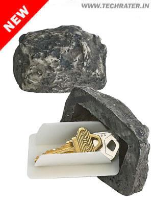 Hidden Key Storage Fake Stone