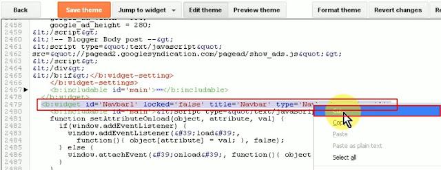 jump to widget navbar 1 delete code