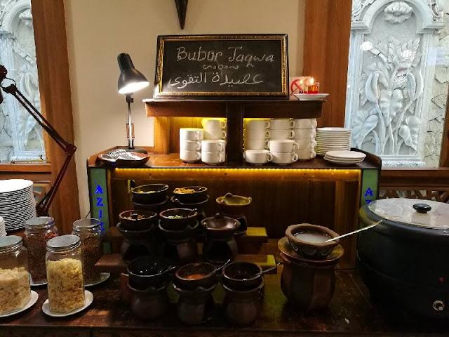 Bubur taqwa enak hotel aziza solo