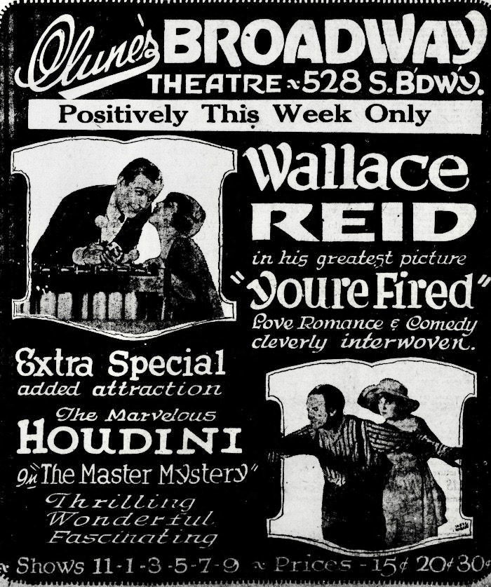 WILD ABOUT HARRY: Houdini and The Master Mystery at Clune's