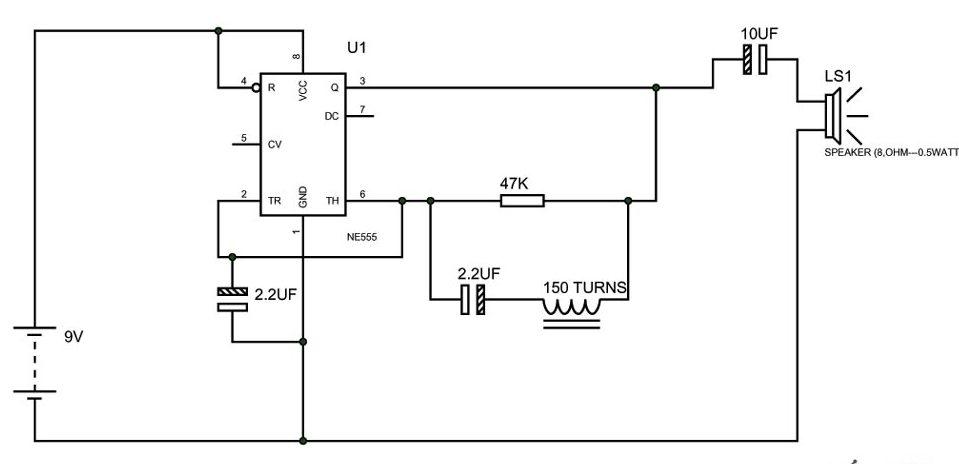 Metal Detector Circuit Diagram Using 555 Timer Pdf - Wwwcaseistore \u2022