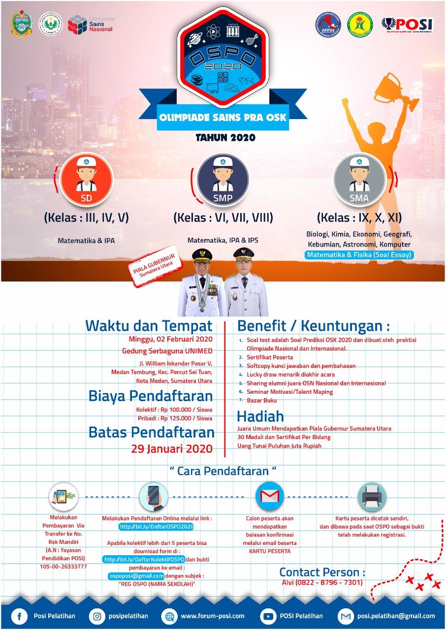 Olimpiade Sains Pra Osk Ospo Tahun 2020 Wilayah Sumatera Utara Soal Soal Ospo Ruang Para Bintang Berbagi Informasi Tentang Ptn Dan Pembahasan Soal Soal