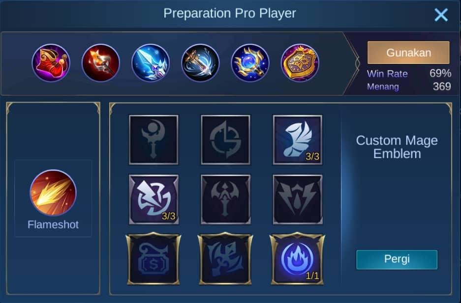 build item chang'e mobile legends (ML)