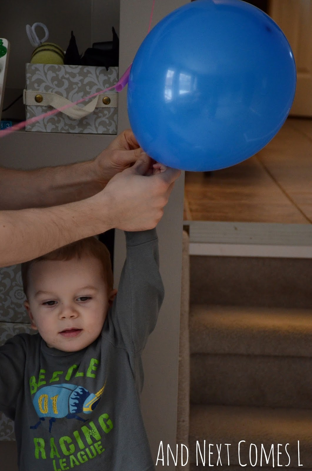 K and his balloon rocket from And Next Comes L