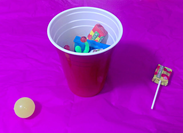 Cup with Party Bag Contents Inside