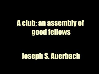 A club; an assembly of good fellows