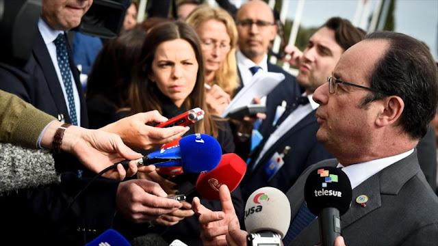Hollande exige a Europa una 'respuesta firme' contra Trump