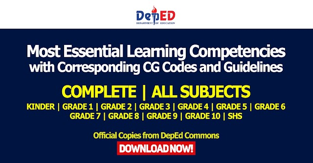 K to 12 Most Essential Learning Competencies with Corresponding CG Codes and MELC Guidelines | Download