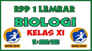 RPP 1 Lembar Lengkap Mata Pelajaran Biologi Kelas XI K13 Revisi