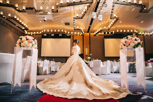 台南皇冠假日酒店, 台南婚攝, 台南婚宴場地,大裙襬