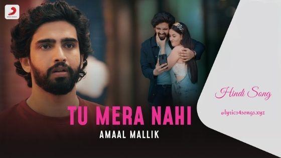 TU MERA NAHI LYRICS - Amaal Mallik | Lyrics4songs.xyz