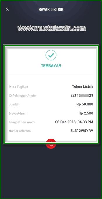 Cara Membeli Token Listrik Menggunakan TCASH