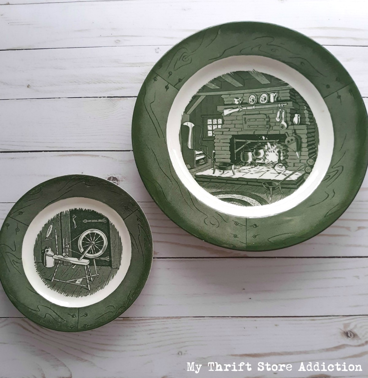 1950s vintage dishes Colonial Homestead