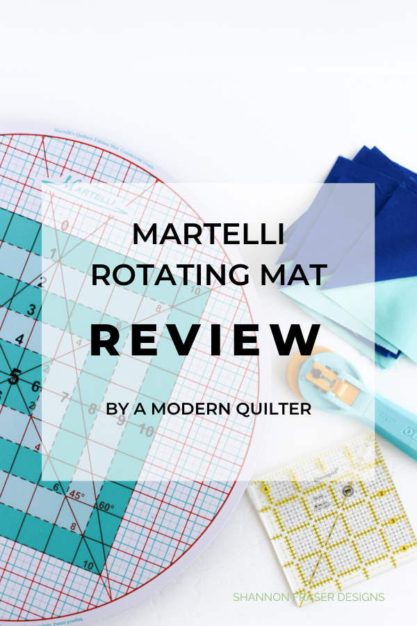 Martelli Round-about Mat | A modern quilter's review | Shannon Fraser Designs #quiltingtool #notions #rotatingmat #quilting #trimmingblocks