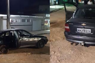 Bandidos trocam tiros com a polícia, fogem e abandonam veículo na Paraíba