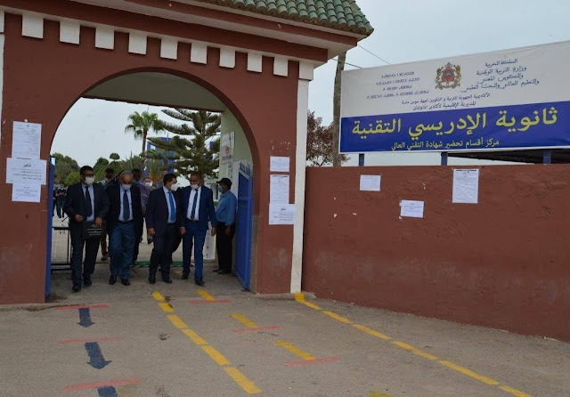 سعيد أمزازي يقوم بزيارة تفقدية للثانوية التقنية الادريسي بالجماعة الترابية اكادير
