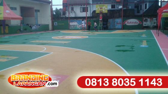 branding lapangan basket, pengecatan lapangan basket sekolah, aplikator cat lapangan basket