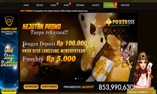 bonus freebet 5000 rupiah dari poker online poker555