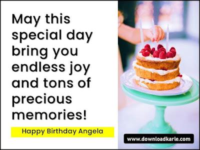 Happy Birthday Angela Cake, Images, Memes and Wishes