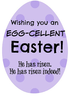 Wishing you an Egg-cellent Easter printable tags @michellepaigeblogs.com