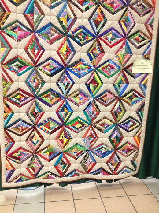Crazy Little Strings – Diamond Charms Quilt by Lahonda Littleton of 24Blocks, The Free Tutorial by Susan from Susie's Scraps