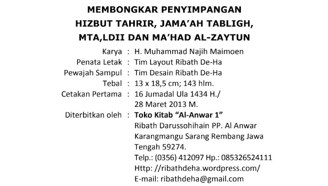 download pdf buku kesesatan jamaah tabligh dan ma'had al zaytun