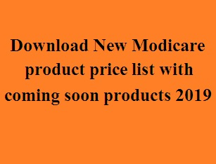 Download New Modicare product price list