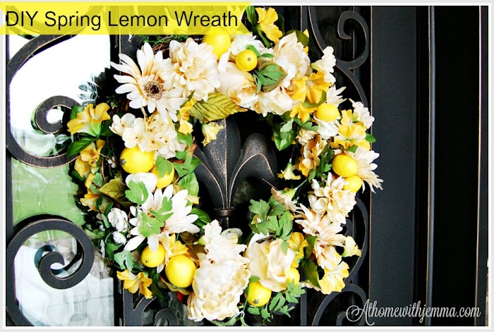 DIY Spring Lemon Wreath