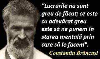 Maxima zilei: 19 februarie - Constantin Brâncuși