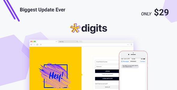 Digits v7.7.0.3 - WordPress Mobile Number Signup and Login
