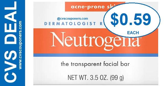 Neutrogena Facial Bar CVS Deal $0.59 630-76