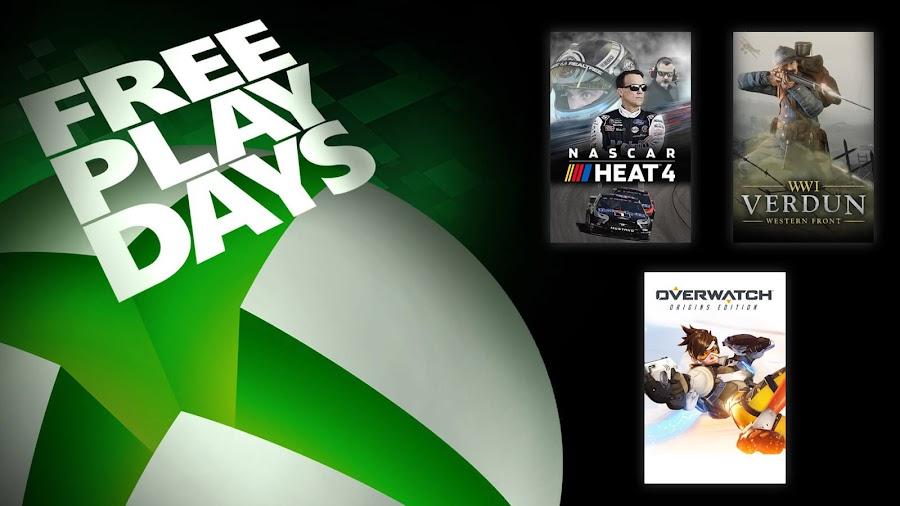 nascar heat 4 overwatch verdun xbox live gold free play days event