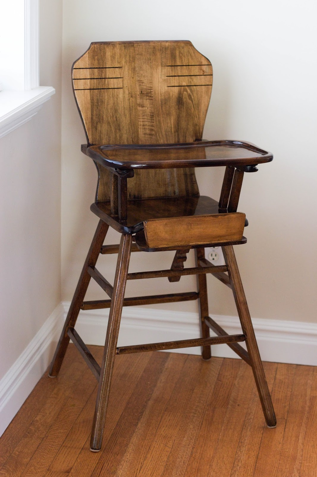 antique wooden high chair staples gaming review do it yourself divas diy refinish an highchair