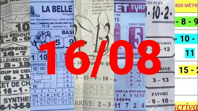 Pronostics quinté pmu Lundi Paris-Turf-100 % 16/08/2021