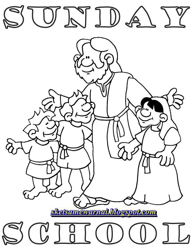 Mewarnai Alkitab : mewarnai, alkitab, Mewarnai, Sekolah, Minggu