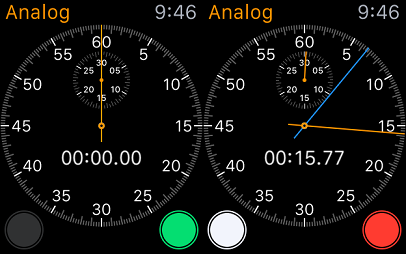 analog mode of apple watch