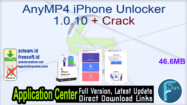 AnyMP4 iPhone Unlocker 1.0.10 + Crack