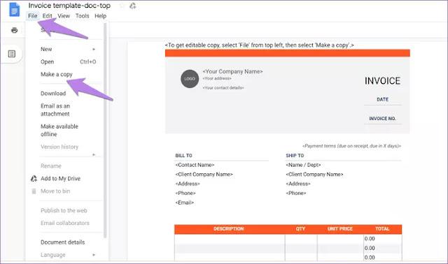 Template Google Docs Gratis untuk Membuat Faktur-1-1